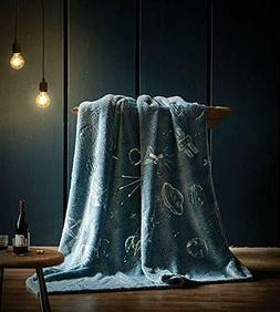 Glowing Flannel Throw - Moon Gazer - Ganje's