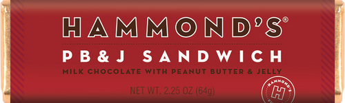 Hammond's Chocolate Bar - PB&J Milk Chocolate - Ganje's