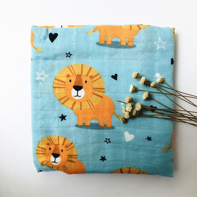 Organic Cotton/ Bamboo Swaddle - Lovable Lion - Ganje's