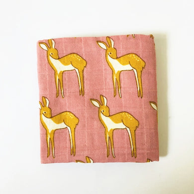 Organic Cotton/ Bamboo Swaddle - Doey the Deer - Ganje's