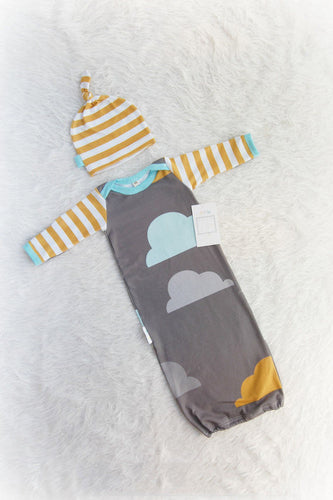 Sleeping Bag Swaddle Blanket - Clouds - Ganje's