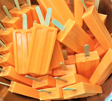 Swanky Sweet Pea - Soap Popsicles - Dreamsicle - Ganje's