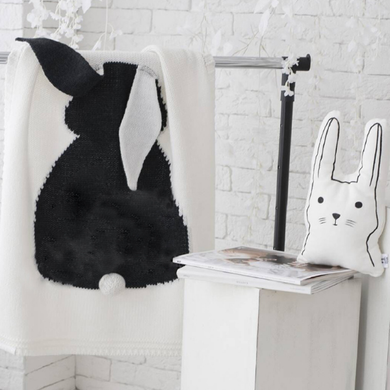 Curious Little Fingers - Black Bunny Blanket - Ganje's