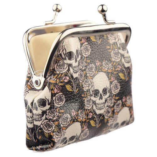 UK - Coin Purse - Skulls & Roses - Ganje's