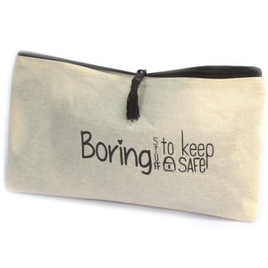 Get Organized Zip Pouches - Boring Stuff to Keep Safe - Ganje's