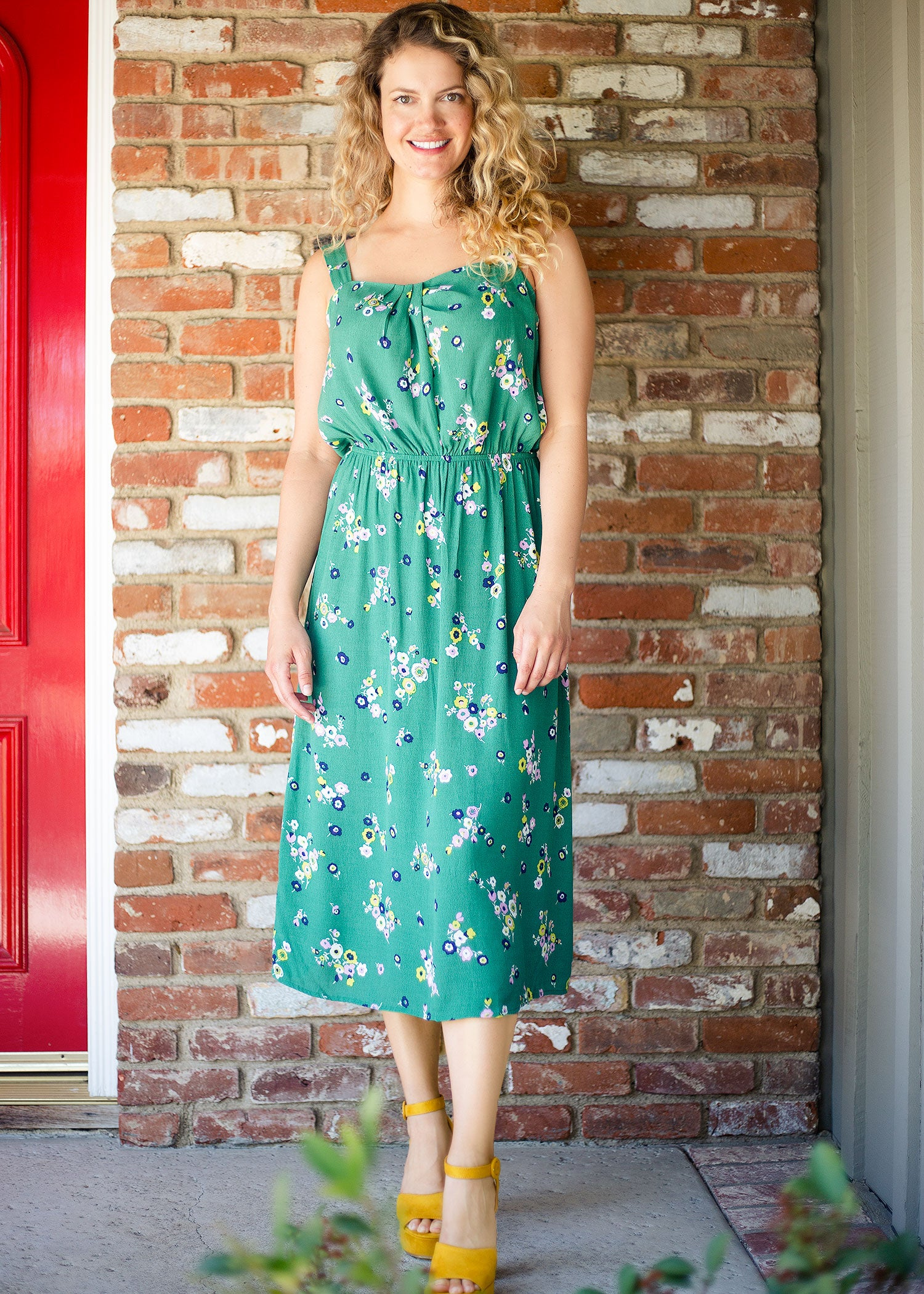 Crawford Dress in Green Floral