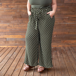 Hydrangea Palazzo Pants in Polka Dots and Solid Colors