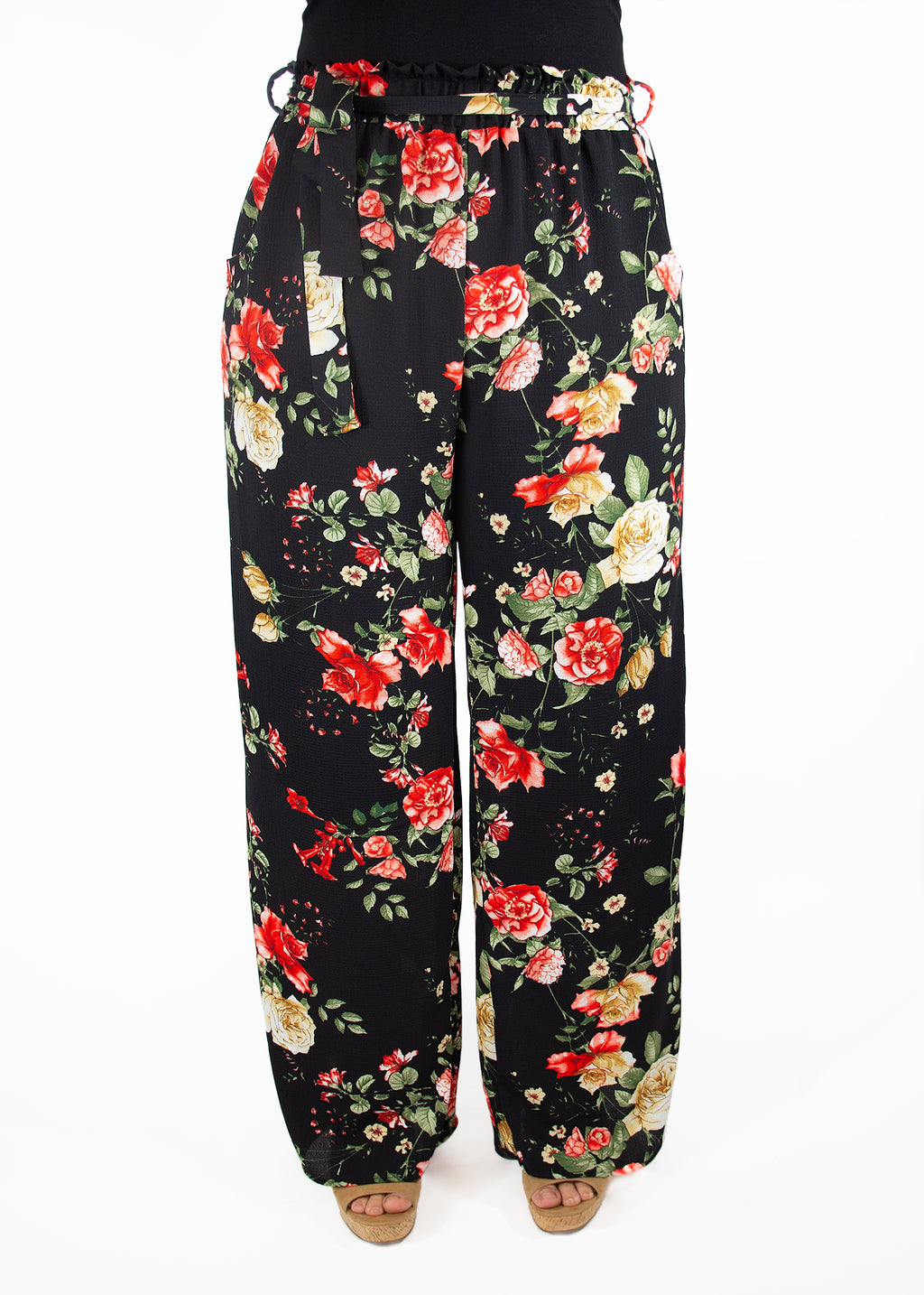 Hydrangea Palazzo Pants in Florals and Stripes