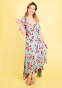 Primrose Wrap Dress in Special Floral Print