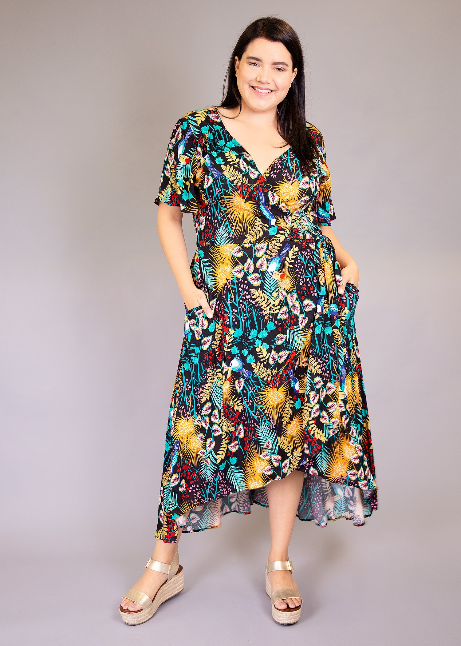 Primrose Wrap Dress in Floral Print