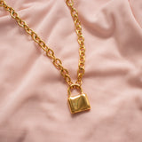 """Maisie"" Chain Padlock Necklace"