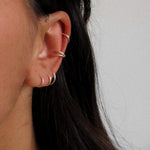 """Jessica"" Simple Hoop Earring Sterling Silver"