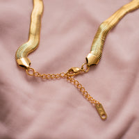 """Medusa"" Thick Herringbone Necklace"