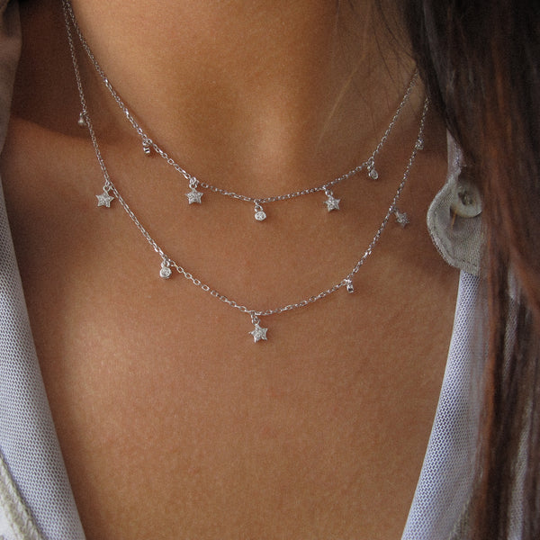 """Matilda"" Sterling Silver Star Necklace"