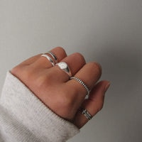 """Atlas"" Sterling Silver Ring"