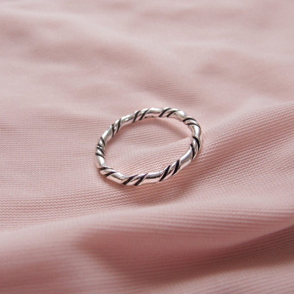 """Mallory"" Plait Ring Sterling Silver"