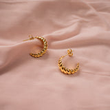 """Demi"" Small Croissant Earrings"