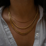"""Cori"" Short Snake Chain Necklace"