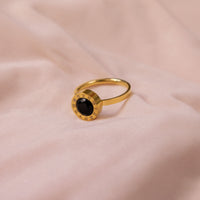 """Black Heart"" Numeral Ring"