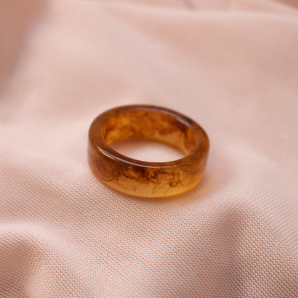 """Rani"" Swirled Resin Ring"