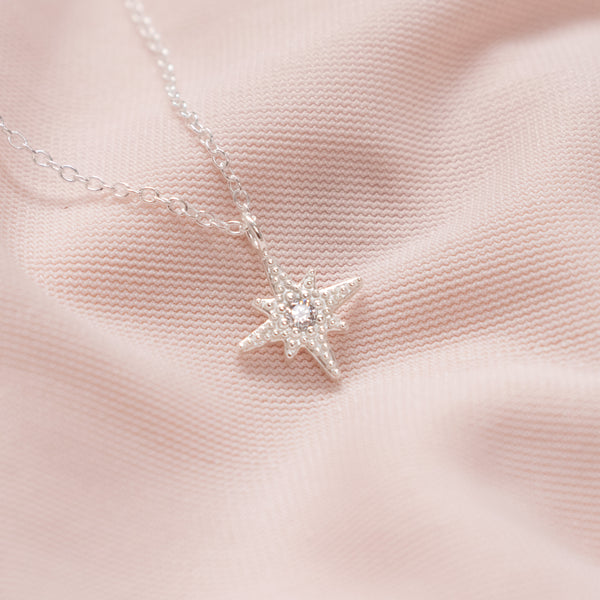 """Orla"" Sterling Silver Star Necklace"