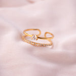 """Carmel"" Gold Vermeil Double Ring"