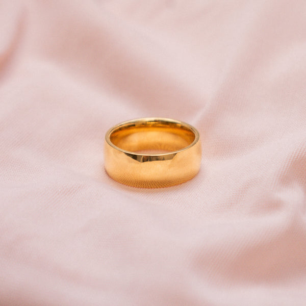 """Matheus"" Thick Band Ring"
