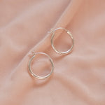 """Camilla"" Sterling Silver Hoop Earrings"