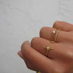 """Starburst"" Gold Vermeil Star Ring"