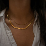 """Bethany"" Thin Herringbone Necklace"