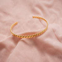 """Venus"" Plaited Bangle"