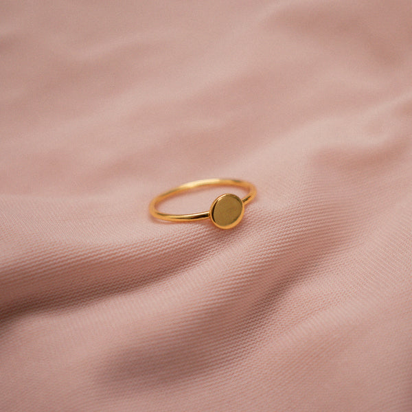 """Nelle"" Sterling Silver Disc Ring"