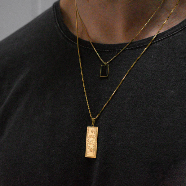 """Leo"" Square Necklace"