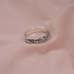 """Aphrodite"" Patterned Sterling Silver Ring"