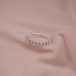 """Belle"" Sterling Silver Beaded Ring"