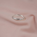 """Clara"" Interlocked Sterling Silver Rings"