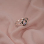 """Vesper"" Sterling Silver Moonstone Knot Ring"