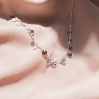 """Piper"" Sterling Silver Scattered Disc Necklace"