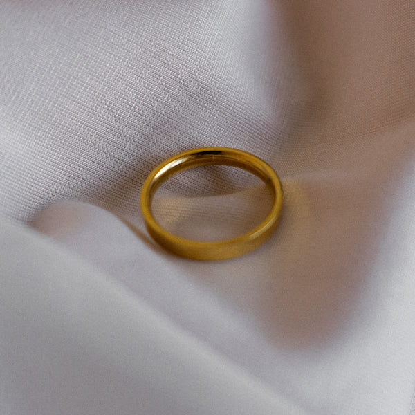 Waterproof gold ring