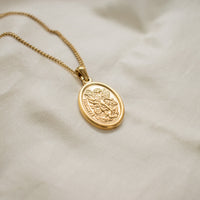 """Eli"" Oval Pendant Necklace"