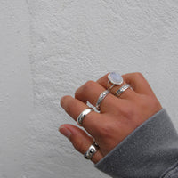 """Margot"" Sterling Silver Star Spinner Ring"