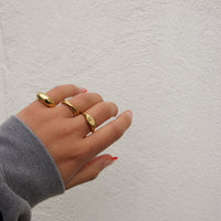"""Joy"" Interlocked Texture Rings"