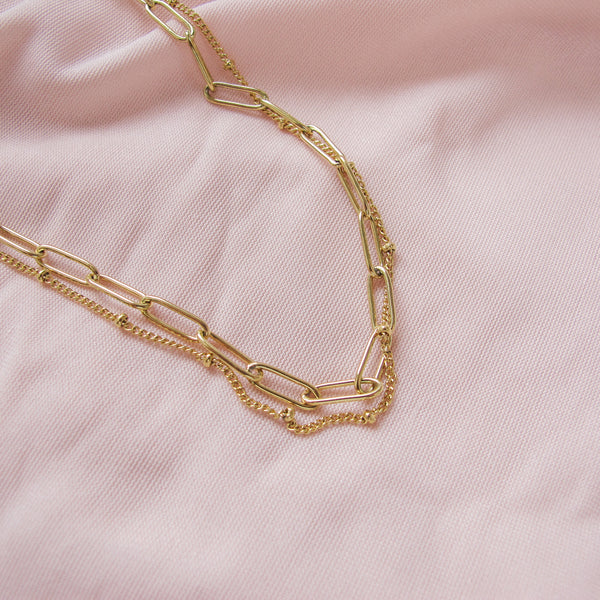 """Paige"" Double Link Necklace"
