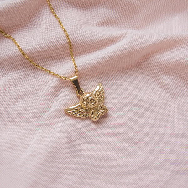 """Clementine"" Cherub Necklace"