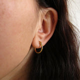 Waterproof tiny gold hoop earrings