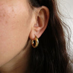 Tiny gold hoop earrings small