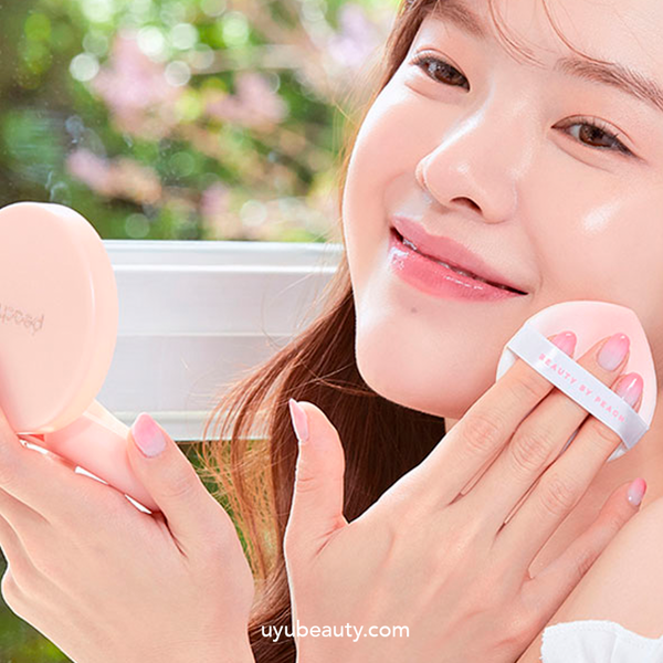 Peach C Honey Glow Cover Cushion #03 Sand SPF50+PA+++