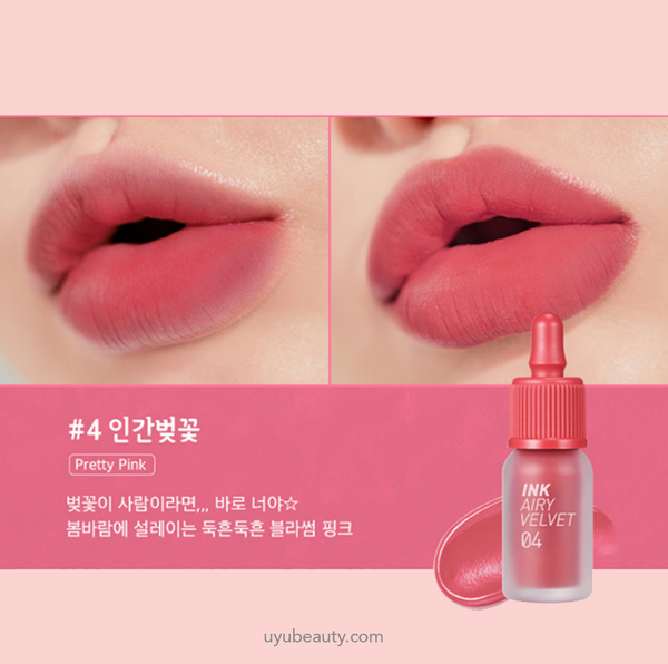 Peripera New Ink Airy Velvet #4 Pretty Pink