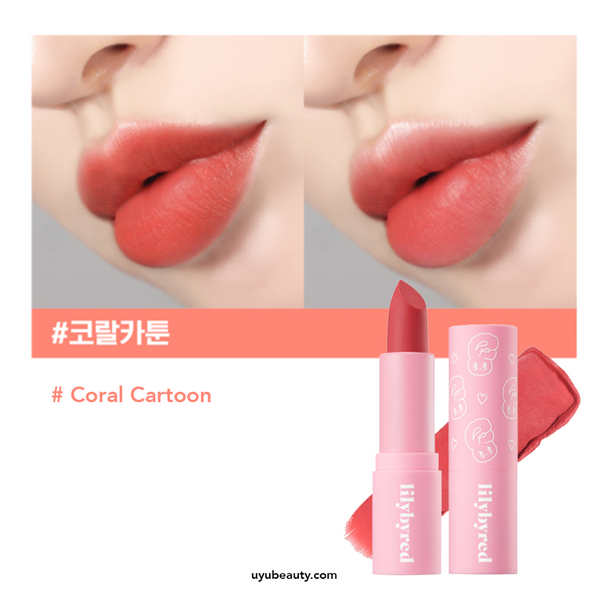 Mood Cinema Matte Ending Lipstick #Coral Cartoon