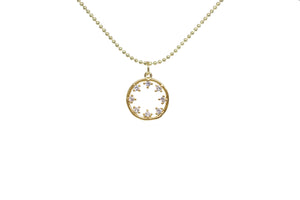 FLORAL CIRCLE NECKLACE